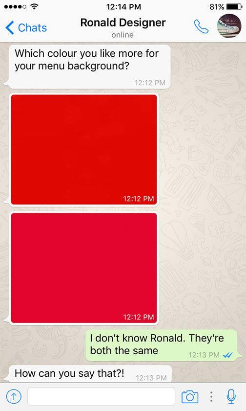 Client - Designer WhatsApp conversations - 2