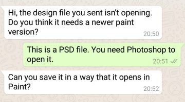 Funny WhatsApp Conversations Between Clients And Designers