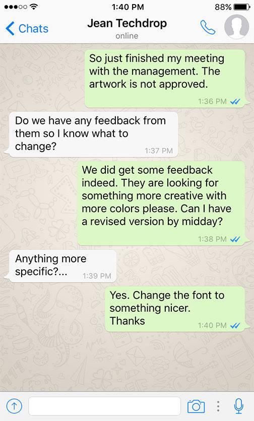 Client - Designer WhatsApp conversations - 4
