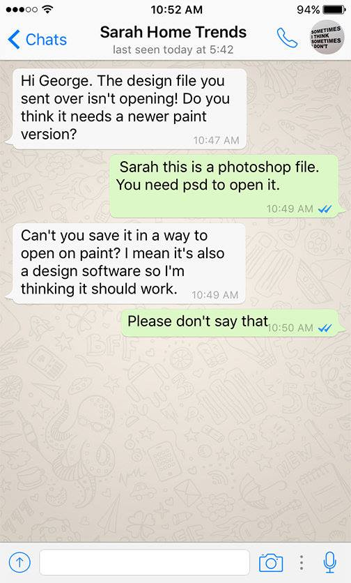 Client - Designer WhatsApp conversations - 5