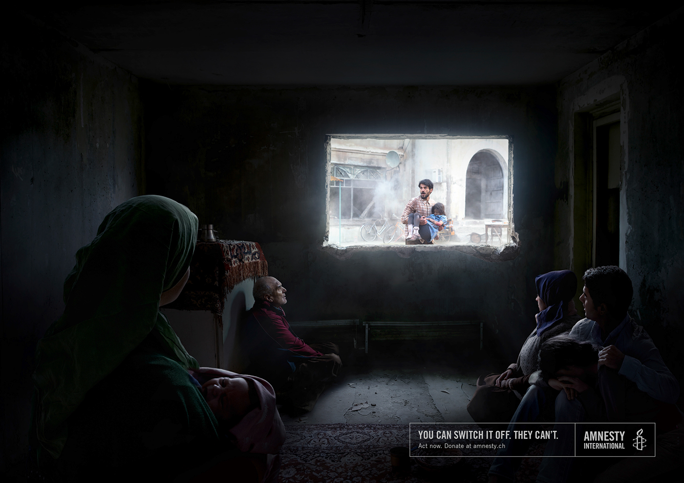 Creative art direction & post production ads - Amnesty International