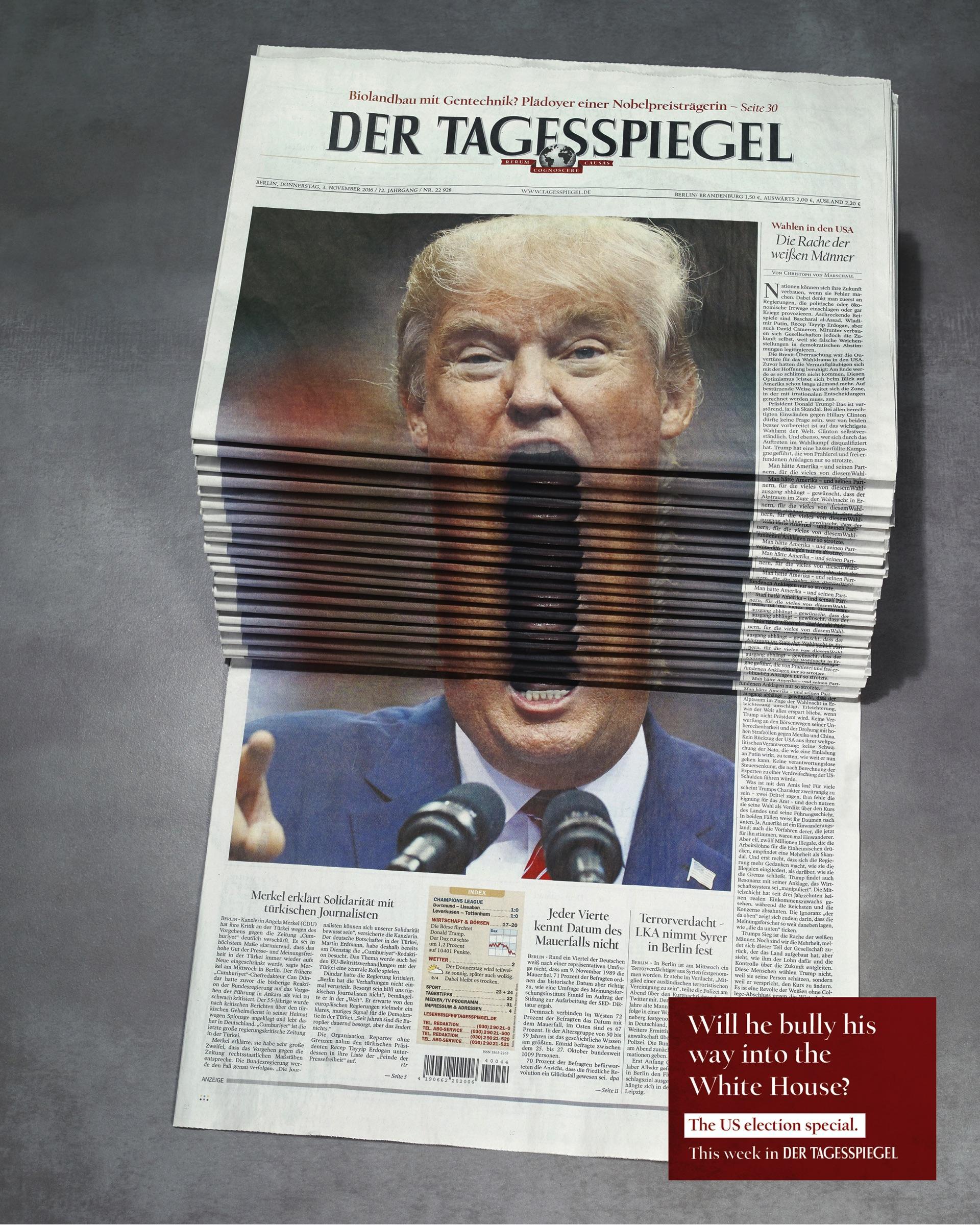 Creative art direction & post production ads - Der Tagesspiegel