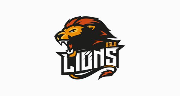 Creative Lion Logo Design - Oslo Lions
