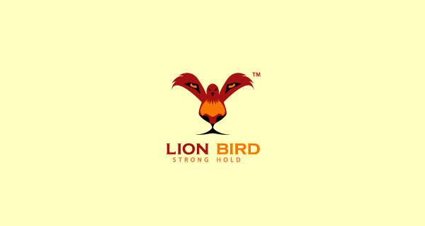 Creative Lion Logo Design - Lion Bird