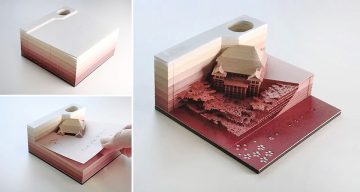 This Cool Memo Pad Reveals Beautiful Objects As It Gets Used