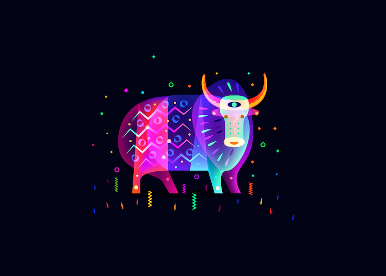 Vibrant, Dream-Like Illustrations Made With Gradients And Blend Modes - 18