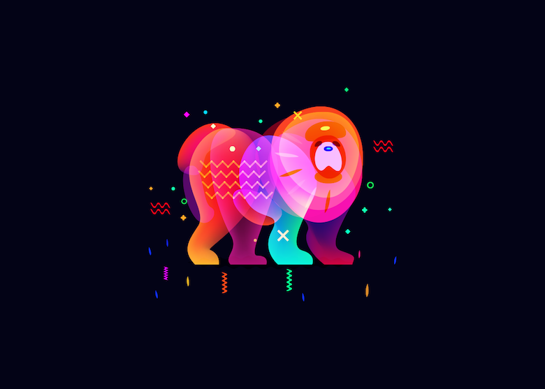 Vibrant, Dream-Like Illustrations Made With Gradients And Blend Modes - 25