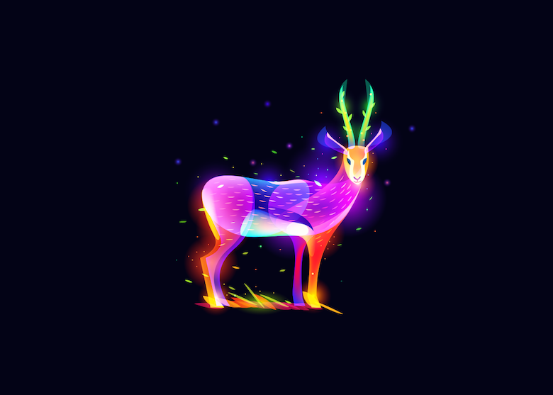 Vibrant, Dream-Like Illustrations Made With Gradients And Blend Modes - 26
