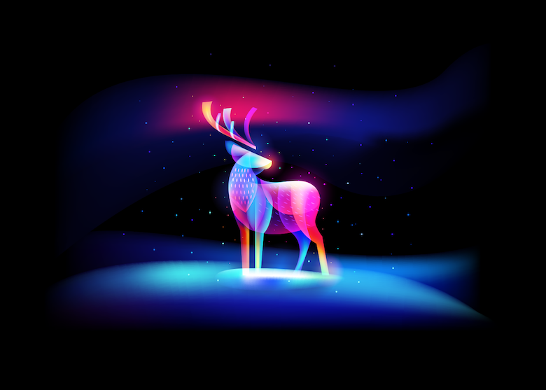 Vibrant, Dream-Like Illustrations Made With Gradients And Blend Modes - 3