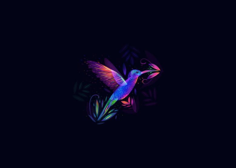 Vibrant, Dream-Like Illustrations Made With Gradients And Blend Modes - 32