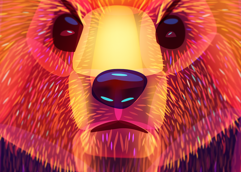 Vibrant, Dream-Like Illustrations Made With Gradients And Blend Modes -33 Zoomed