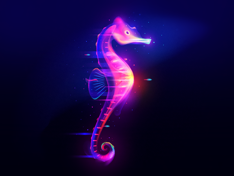 Vibrant, Dream-Like Illustrations Made With Gradients And Blend Modes - 35