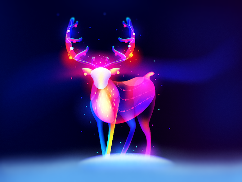 Vibrant, Dream-Like Illustrations Made With Gradients And Blend Modes - 37