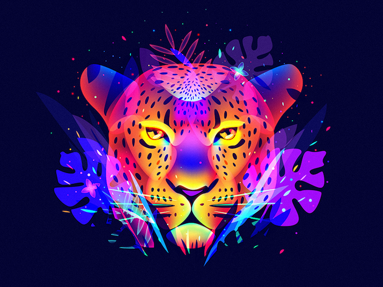 Vibrant, Dream-Like Illustrations Made With Gradients And Blend Modes - 38