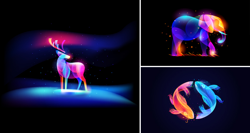 Vibrant, Dream-Like Illustrations Made With Gradients And Blend Modes