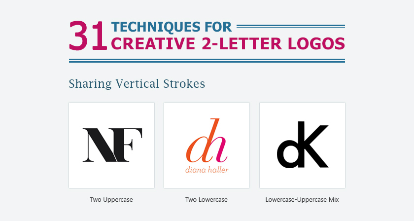 31 Useful Design Techniques For Creative Two Letter Logos