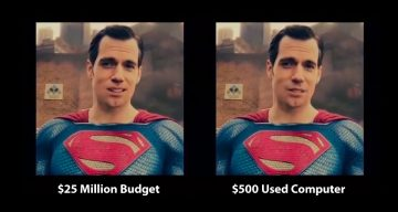Cheap A.I. Removes Superman's Moustache Better Than Warner Bros' $25 Million Job