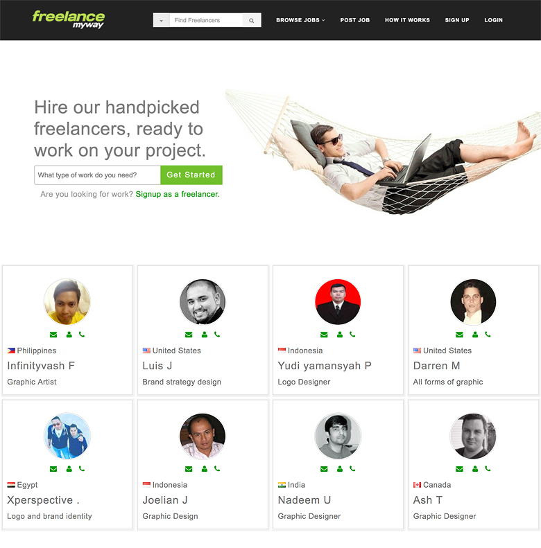 Hire a freelancer on FreelanceMyWay