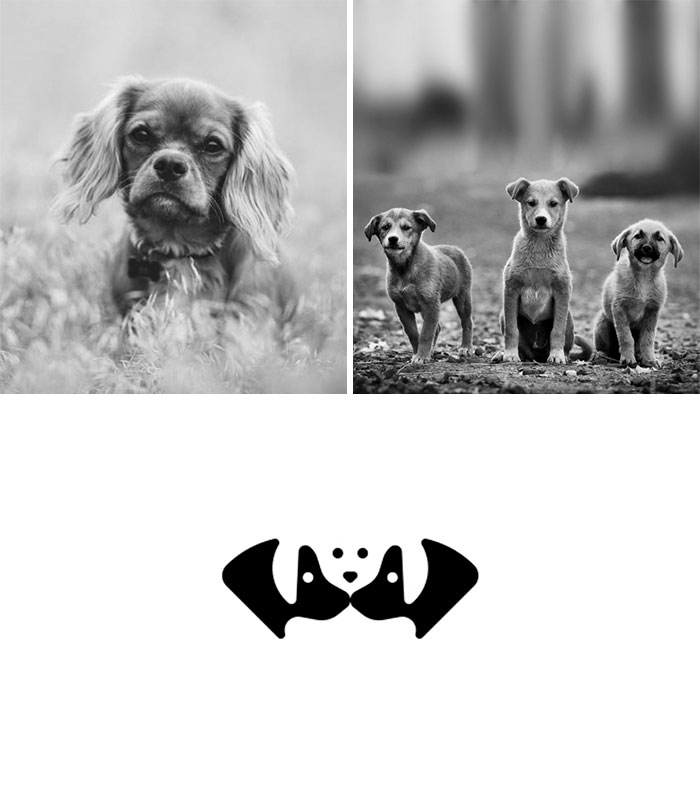Brand logos made by combining two two objects - Dog Family