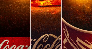 Brilliantly Art-Directed Coca-Cola Ads Make You Look Closer To See What Their Bubbles Are Made Of