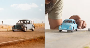 Volkswagen Hires Photographer To Shoot Their Classic Beetle, He Uses A Toy Car Instead
