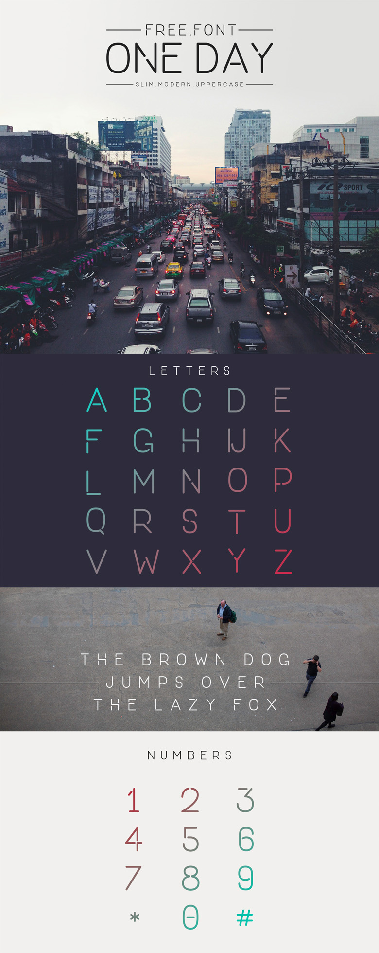 Beautiful free fonts for designers - One Day