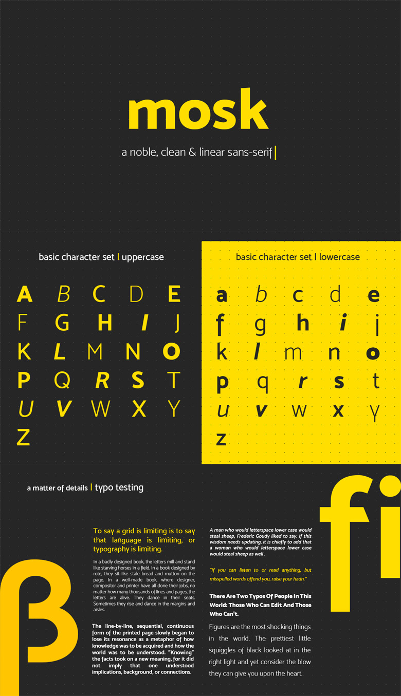 Beautiful free fonts for designers - Mosk