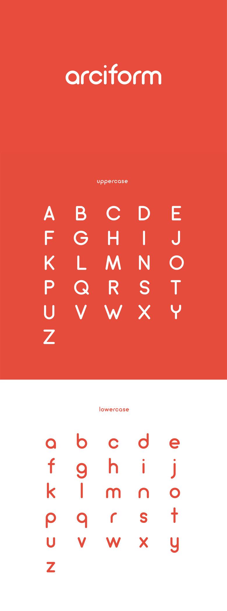 Beautiful free fonts for designers - Arciform
