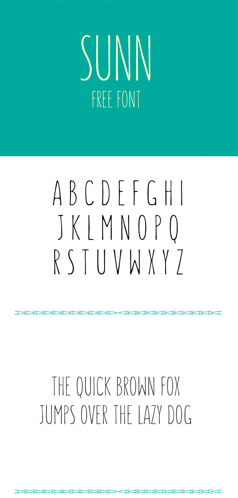 Beautiful free fonts for designers - Sunn