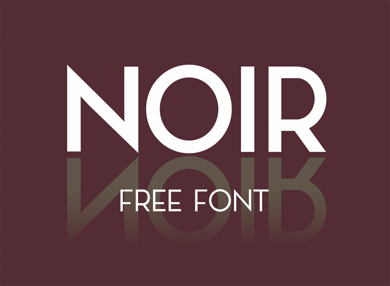 Beautiful free fonts for designers - Noir