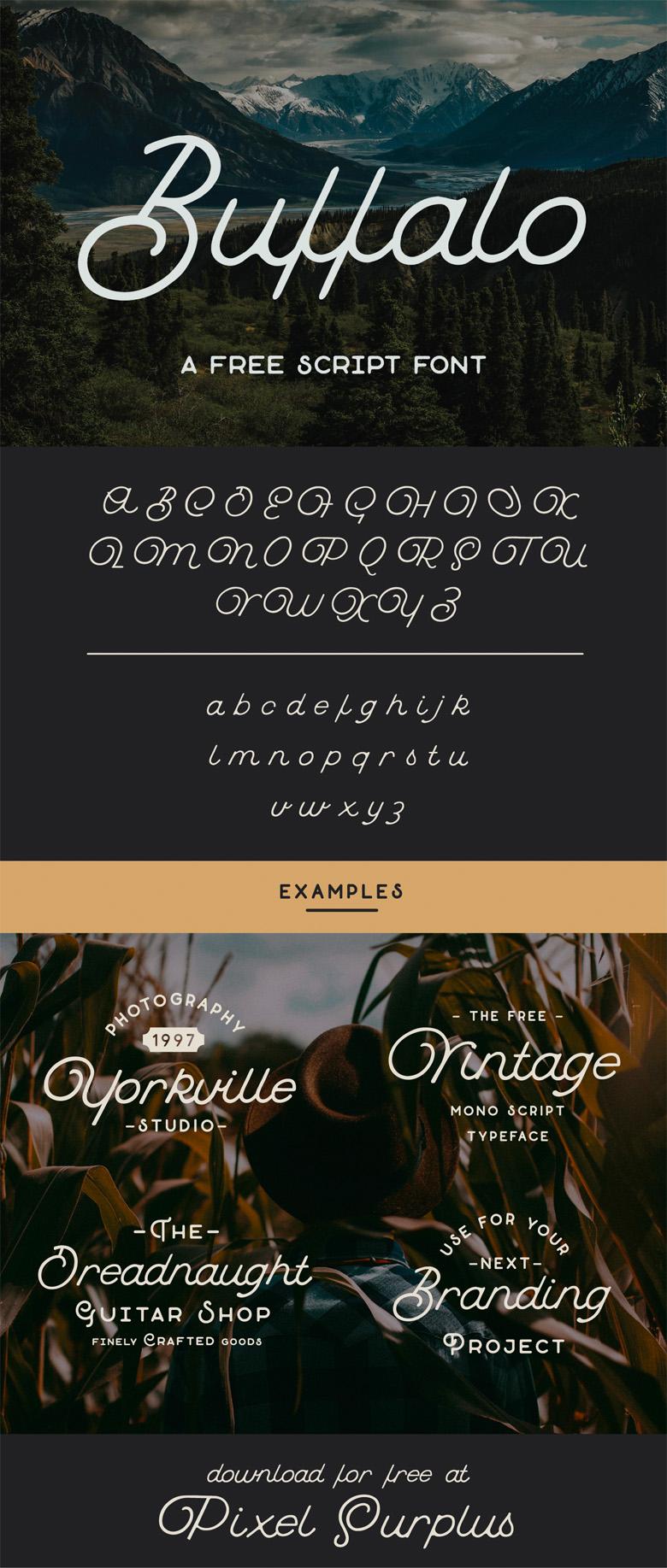 Beautiful free fonts for designers - Buffalo