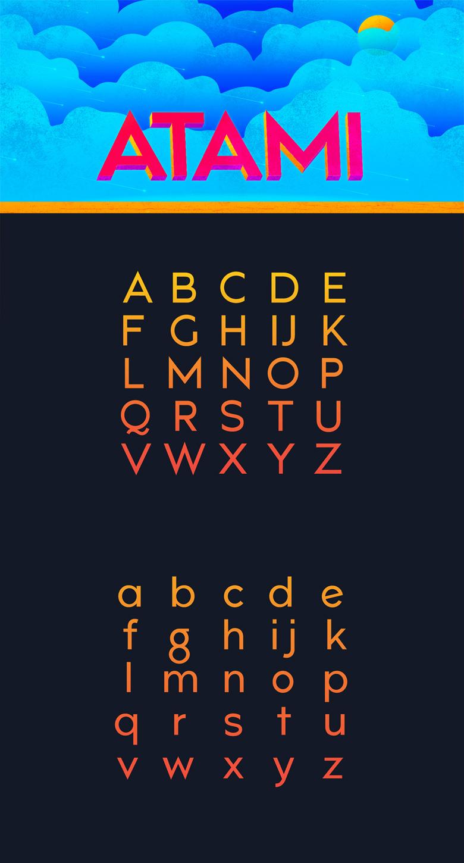 Beautiful free fonts for designers - Atami