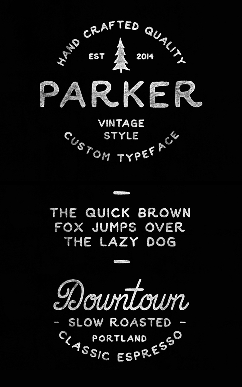 Beautiful free fonts for designers - Parker