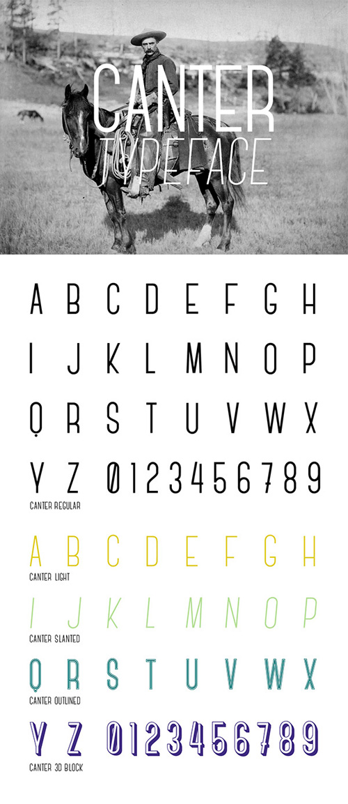 Beautiful free fonts for designers - Canter