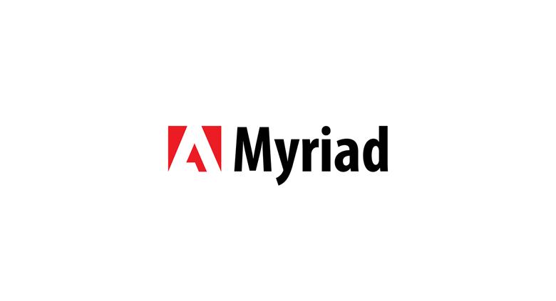 Adobe logo font - Myriad