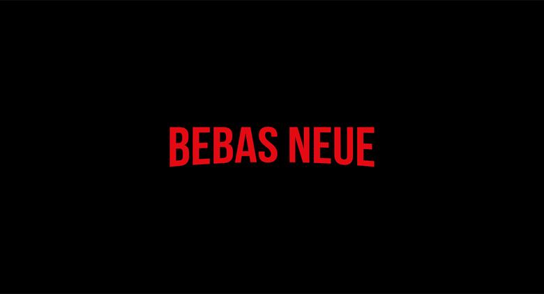 Netflix logo font - Bebas Neue