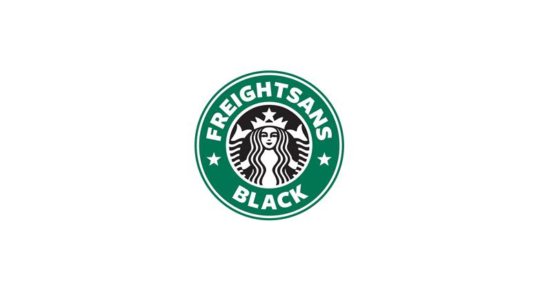 Starbucks logo font - FreightSans Black