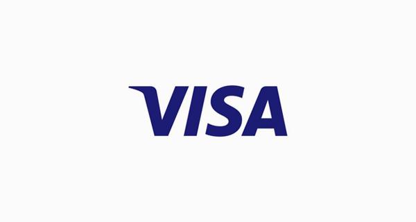 Visa logo font - Myriad Black Italic