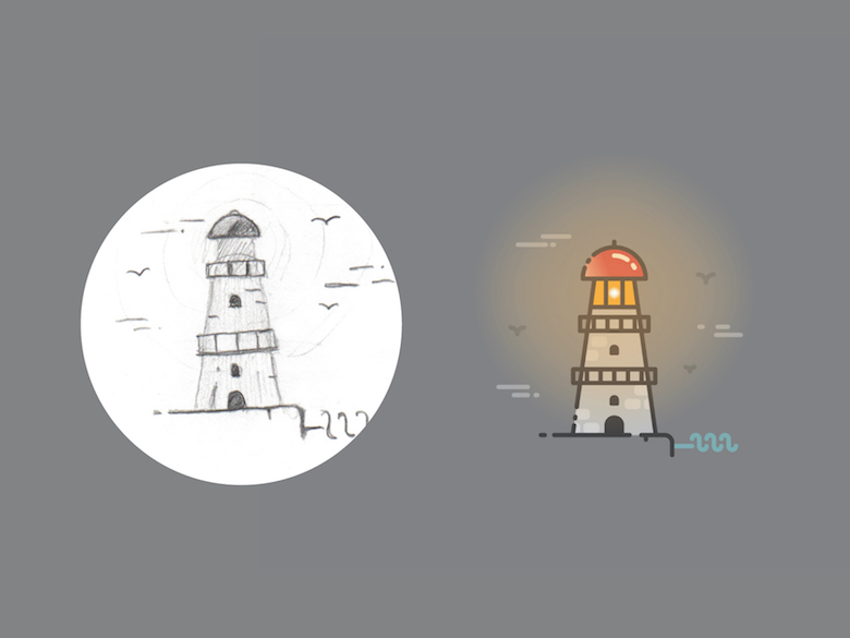 From sketch to vector illustration - 18