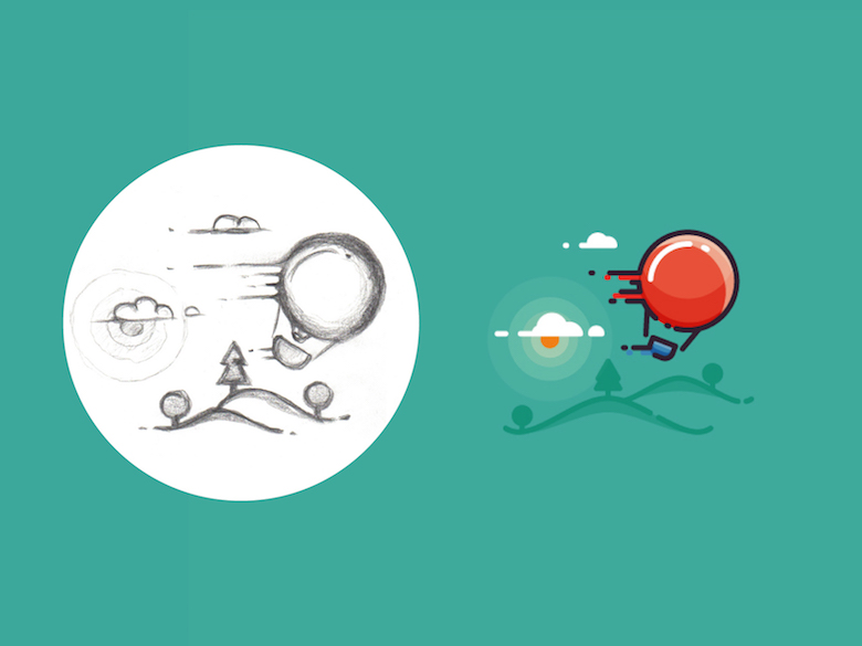 From sketch to vector illustration - 3