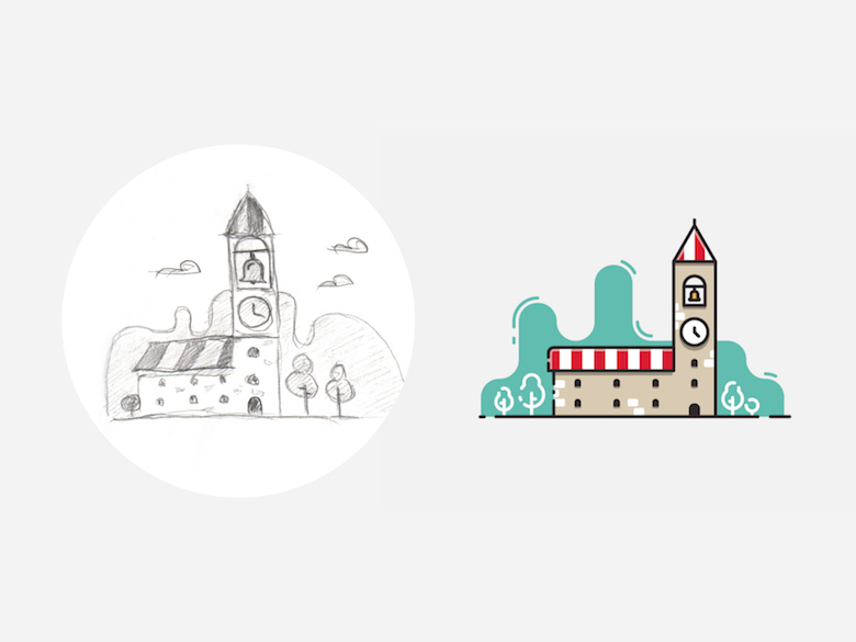 From sketch to vector illustration - 5