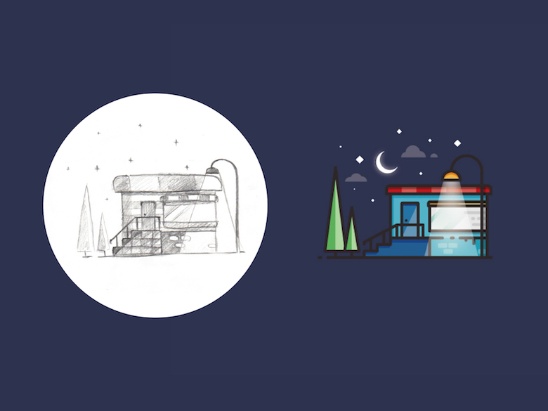 From sketch to vector illustration - 9