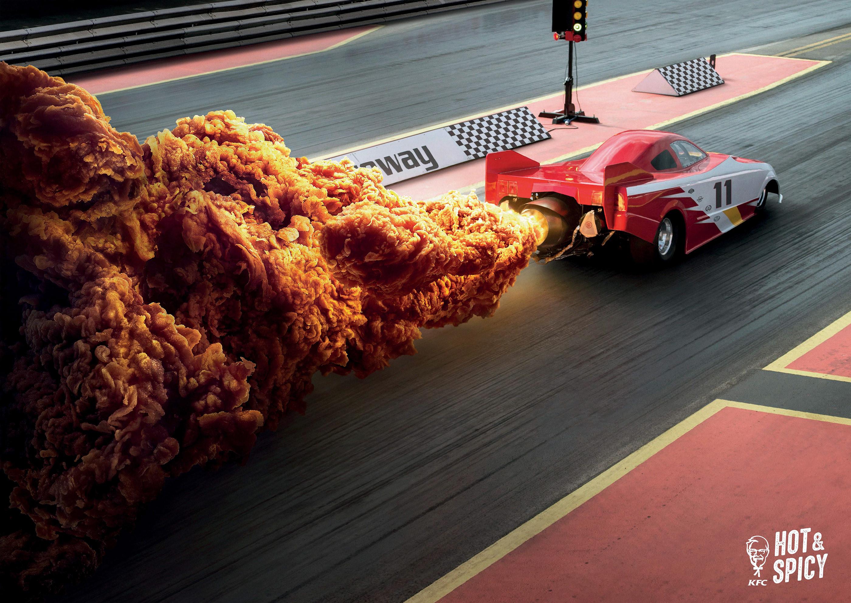 KFC Hot & Spicy - Drag Race Car