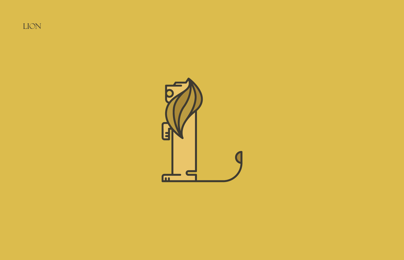 Animals Alphabet - Lion