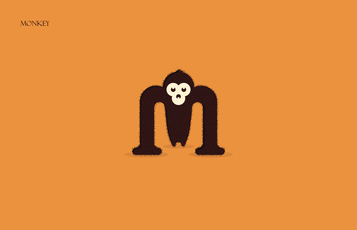 Animals Alphabet - Monkey