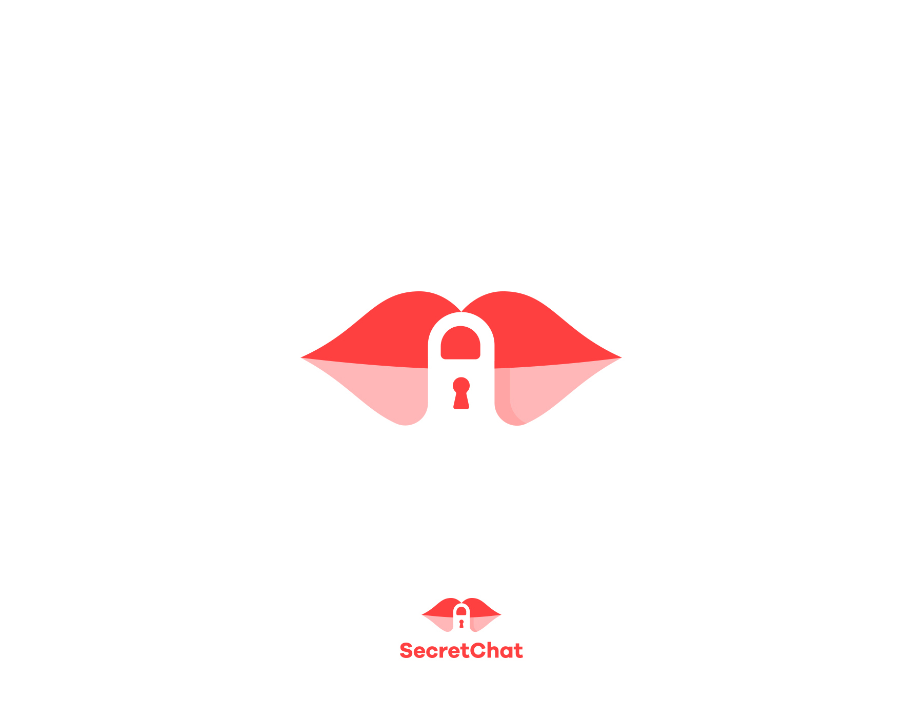 Creative logos with hidden symbolic meaning - SecretChat