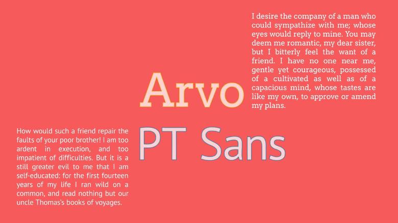 Arvo / PT Sans