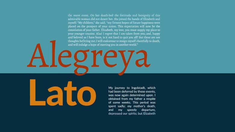 Alegreya / Lato