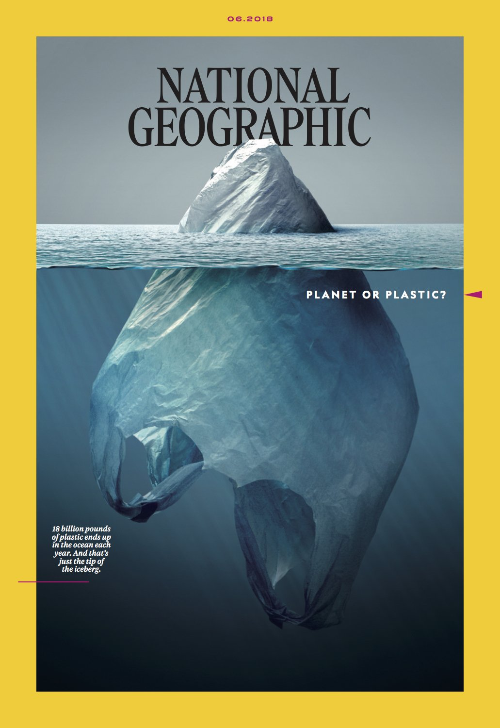 National Geographic Comes Up With An Iconic Cover For Its 'Planet Or Plastic' Campaign