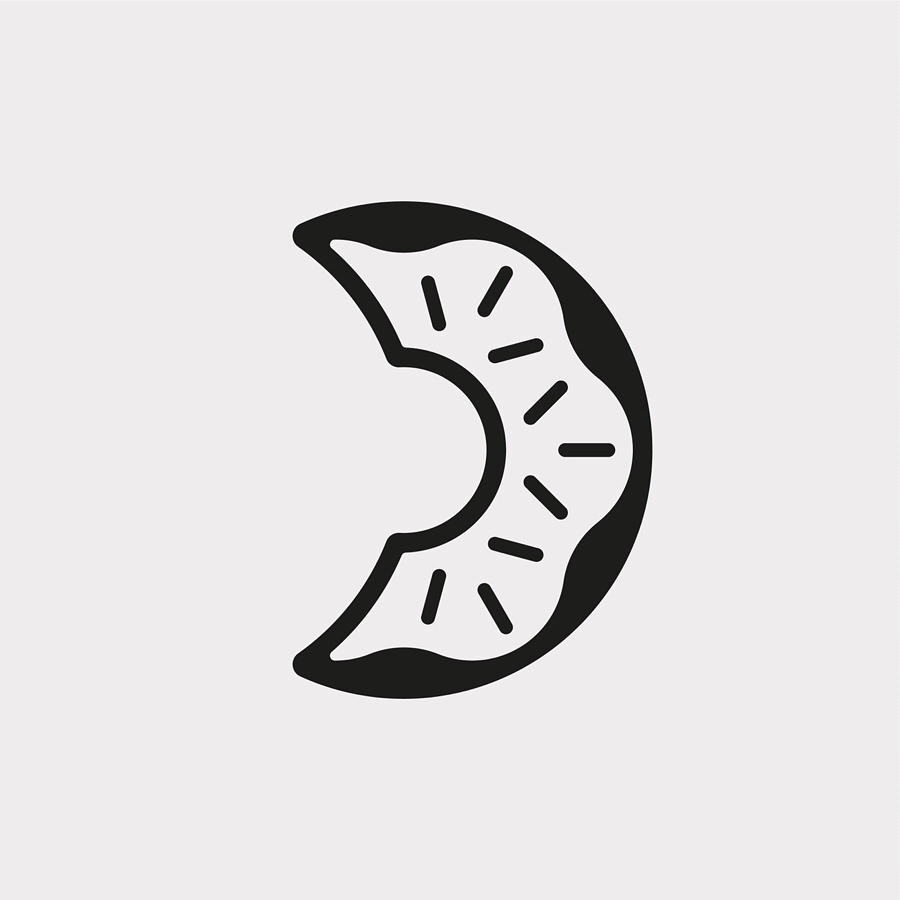 Creative typographic alphabet logos - D for Doughnut